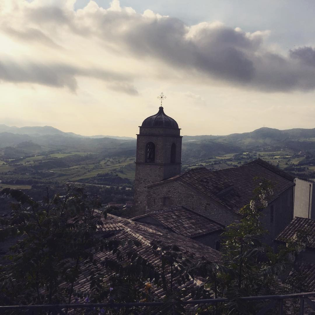 Beautiful view from the top of the hill in Pennabilli ❤️???????? (…photo made by one of our guests)