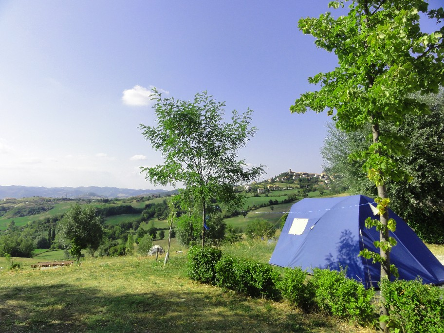 Uitzicht vanaf een kampeerplaats.